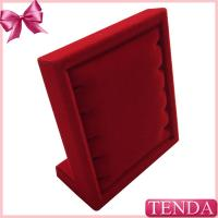 Buy cheap Mini Small Red Velour Flocking Velvet Pendant Bracelet Chain Jewellery Jewelry Holder Hanger from wholesalers