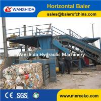 Buy cheap Y82-125 China horizontal Waste Paper Balers manual belting with feeding conveyor manufacturer from wholesalers
