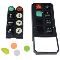 Buy cheap Black Tv Remote Control Buttons , Carbon Pill Keypad With Spraying Coating PU Coating from wholesalers