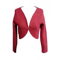 Buy cheap Chic Red Hearted Short Jackets sleeved waistcoat long sleeve ladies tops from wholesalers