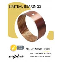 Buy cheap Wrapped Bimetal Bushing Bearing With Lubrication Pockets DIN1494 from wholesalers