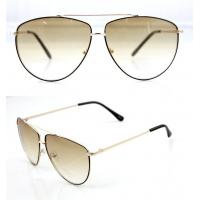 Buy cheap Modern Men and Lady Full Frame Sunglasses With White Metal Frame product