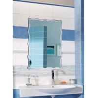 Buy cheap Rectangular Illuminated Bathroom Wall Mirrors Framed Irregular Edges from wholesalers