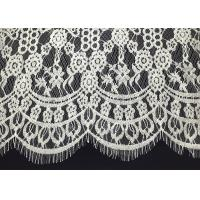 Buy cheap Double Scalloped Eyelash Antique Lace Trim With 60 Width Elizabethan Revival Style from wholesalers