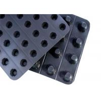 Buy cheap PlasticDimpled Geocomposite Drain Foundation Wall Drainage Board For Water Percolation from wholesalers