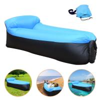 Buy cheap Outdoor Inflatable Sofa Sleeping Lazy Bag Camping Air Sofa Sleeping Beach Bed Inflatable Sleeping Bed from wholesalers