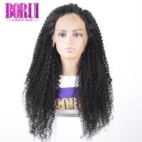 Buy cheap Kinky Curly Custom Lace Wigs Lace Frontal Wig Cuticle Aligned Virgin Soft Smooth from wholesalers