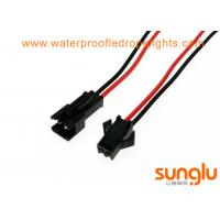 Buy cheap Black Red LED Lighting Accessories 3 Pin JST SM Connector M / F Connectors Male To Female from wholesalers