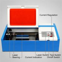 Buy cheap 40W  Mini Desktop CO2 Laser Engraving Machine 3020 for Acrylic Wood Bamboo Rubber stamp from wholesalers