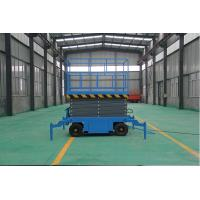 Buy cheap High quality Four wheels mobile scissor lift platform SJY0.3-9  9m hot sale from wholesalers