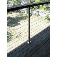 Buy cheap 316 Stainless Steel Cable Guardrail System Solid Rod Bar Railing Balustrade product