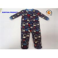 Buy cheap 100% Cotton Crane AOP Baby Coverall Long Sleeve Crew Neck Over Tab Pram Suit from wholesalers