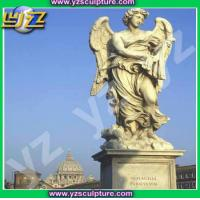 Buy cheap garden natural marble angel statue from wholesalers