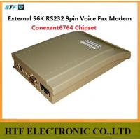 Buy cheap OEM/ODM Conexant6764 chipset 5VDC Caller ID and Win7 14,400bps Fax Speed  56K External Voice 9pin RS232 port FAX Modem from wholesalers