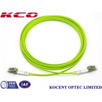 Buy cheap LC-LC Duplex Multimode Fiber Optic Patch Cord 0.35dB Insertion Loss With Different Length from wholesalers