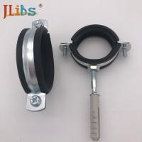 Buy cheap Rubber Lined Cast Iron Pipe Clamps For Ventilation Pipes , M8 / M10 Clamping Head from wholesalers