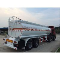 Buy cheap 8 Wheels 2 Axles Tank Semi Trailer With Landing Gear 2 Manholes And 2 Rooms from wholesalers