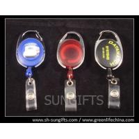 Buy cheap Stylish carabiner retractable badge holders with name badge straps from wholesalers
