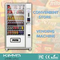 Buy cheap Automated Workplace Snack Drink Combo Vending Machine With Card Reader from wholesalers