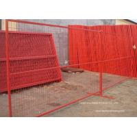 Buy cheap PVC Coated Temporary Construction Fence Canada Standard 10x6 FT Event Movable Fence from wholesalers