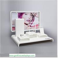 Buy cheap White Acrylic Jewelry Showcase Display Set Perspex Jewellery Stand for Necklace,Earring,Ring from wholesalers