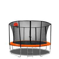 Buy cheap 10ft black orange secure durable spring free Jumping Trampoline OF PVC Material product