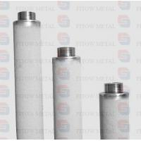Buy cheap Purity 99.7% pure titanium powder cartridge micro filter for ozone water treatment from wholesalers