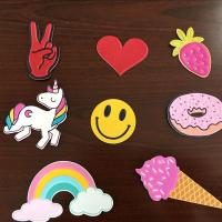 Buy cheap Self Adhesive Colourful Leather Bag Stickers , Custom Embossed Leather Patches from wholesalers