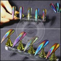 Buy cheap Laser Chrome Mirror Peacock Rainbow Holographic Chameleon Nail Glitter Powder from wholesalers