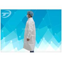 China Light Weight  PP SMS Medical Protective Clothing Lab Jackets Disposable Hospital Gowns on sale