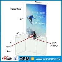 Buy cheap customized hot sale clear acrylic donation box with locks high quality from wholesalers