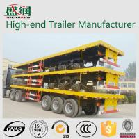 Buy cheap Shengrun truck trailer,40ft container flatbed semi trailer,3 axle flatbed trailer sale from wholesalers