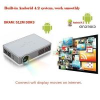 Buy cheap Android OS WiFi DLP300W Portable Proyector Home Theater 3D Projector In Spanish from wholesalers