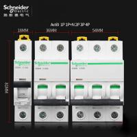 Buy cheap Acti9 MCB Schneider Electric Miniature Circuit Breaker 6~63A, 1P,2P,3P,4P,DPN for electrical distribution from wholesalers