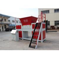Customized Plastic Waste Twin Shaft Shredder Auto Reverse Switch 2 * 45kw 1250kg / H
