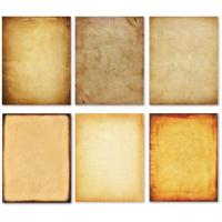 Buy cheap Double Sided Printed Brown Parchment Paper With Classic Vintage Assorted Design from wholesalers