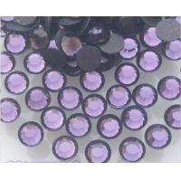 Buy cheap ss10/3mm  tanzanite/violet iron on rhinestone pedreria for dresses from wholesalers