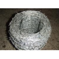 Buy cheap Heavy Duty Barbed Galvanized Iron Wire For Wine , Prison Low Carbon Steel Wire from wholesalers
