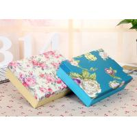 Buy cheap Recyclable Flower Pattern Square Packaging Boxes With Printed Logo from wholesalers