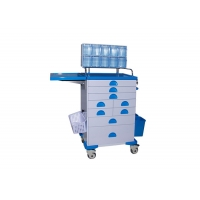 Buy cheap Durable Steel Structure Medical Cart Multi - Bin Containers For Anesthesia from wholesalers