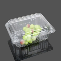 Buy cheap Transparent Big Clamshell Disposable Plastic Food Box from wholesalers