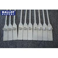 Plastic Numbered Security Seals For Ballot Box , Pull Tight Seal White