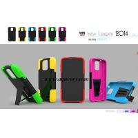 Buy cheap Top quality PC+silicone T kickstand mobile phone case, protect your phone very well from wholesalers