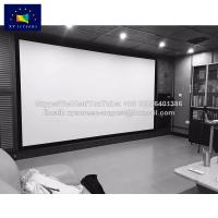 Buy cheap velvet bordure fixed frame projection screen with acoustic Pro fabrics from wholesalers