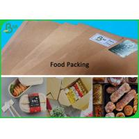 Buy cheap Light Thickness Food Grade Paper Roll / Brown Uncoated Paper Sheet With 594mm * 841mm from wholesalers
