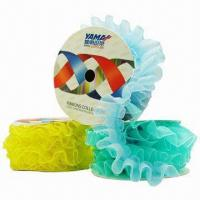 Buy cheap Decorative Ruffle, Available in Several Patterns, Made of Organza Ribbon with Sewing from wholesalers