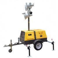 Buy cheap 4 x 1000 Watt Gasoline Or Diesel Trailer Mounted Light Towers Elevating Height 1800-9000mm from wholesalers