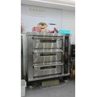 Buy cheap 3 Deck 12 Trays Electric Oven For Baking , Big Glass Door Gas / Electric Deck Pizza Oven from wholesalers