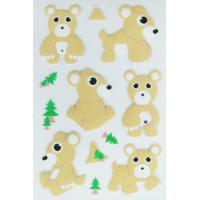 Buy cheap removable PVC Foam Cute Puffy Animal Stickers for scrapbooking Safe from wholesalers