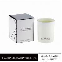 Buy cheap Living Room Natural Soy Candles , Decorative Scented Candles In The Light White Color Bottle from wholesalers